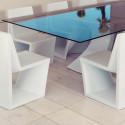 Table Rest, Vondom, plateau blanc Full White, Longueur 300 cm