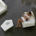 Table basse origami Faz, Vondom, blanc Mat, 110x70xH32 cm