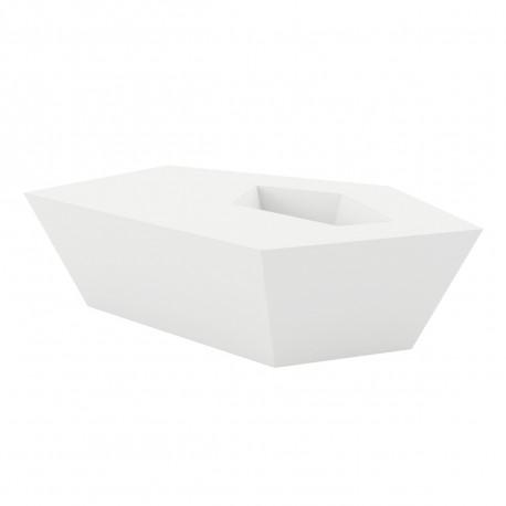 Table basse Faz, Vondom blanc LED RGB à batterie