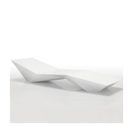 Chaise longue design Faz, Vondom blanc
