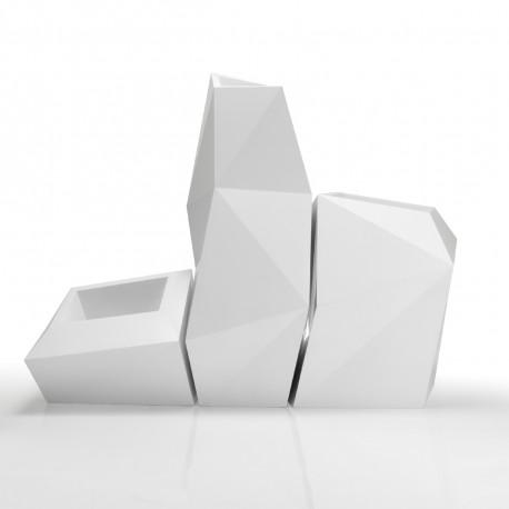 Lot de 3 pots FAZ, Vondom blanc Taille XL