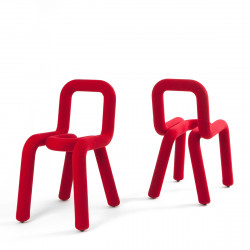 Chaise Design Bold, Moustache rouge
