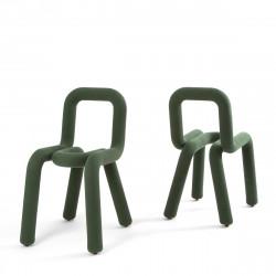 Chaise Design Bold, Moustache vert foncé