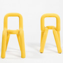 Chaise Design Bold, Moustache jaune