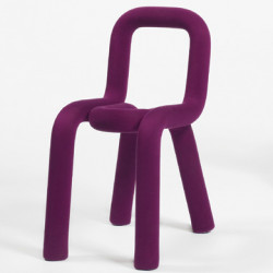 Chaise Design Bold, Moustache pourpre
