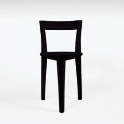 Chaise tripode Petite Gigue, Moustache chêne laqué noir