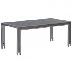 Table Pampelonne, Hanjel gris aluminium