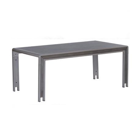 Table Pampelonne, Hanjel gris aluminium