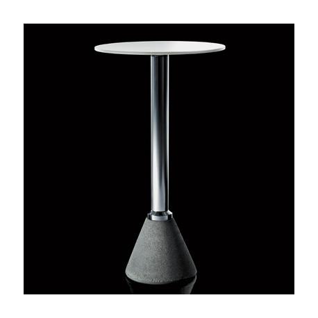 Mange debout One Bistrot, Magis, plateau blanc diamètre 60 cm, structure aluminium anodisé