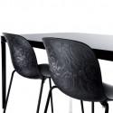 Chaise design bois et acier Troy, Magis hêtre verni noir, structure noire