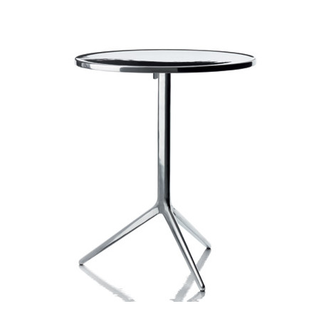 Central, table ronde pliante, Magis aluminium poli D60 cm