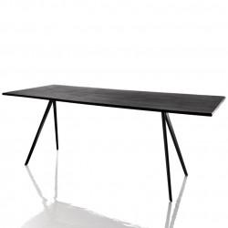 Baguette, grande table à manger design, Magis noir 160x85 cm