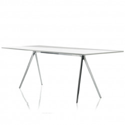 Baguette, grande table à manger design, Magis verre transparent 160x85 cm