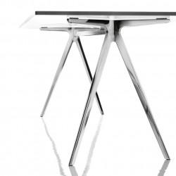 Baguette, grande table à manger design, Magis verre blanc 160x85 cm