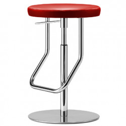 S123PH Tabouret de bar réglable, Thonet rouge, structure chrome