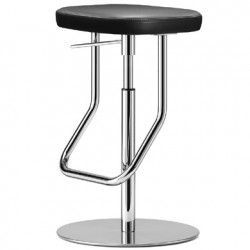 S123PH Tabouret de bar réglable, Thonet noir, structure chrome