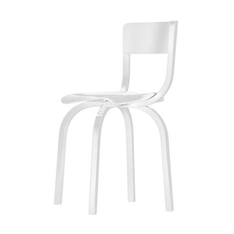 404 Chaise design en bois, Thonet blanc laqué