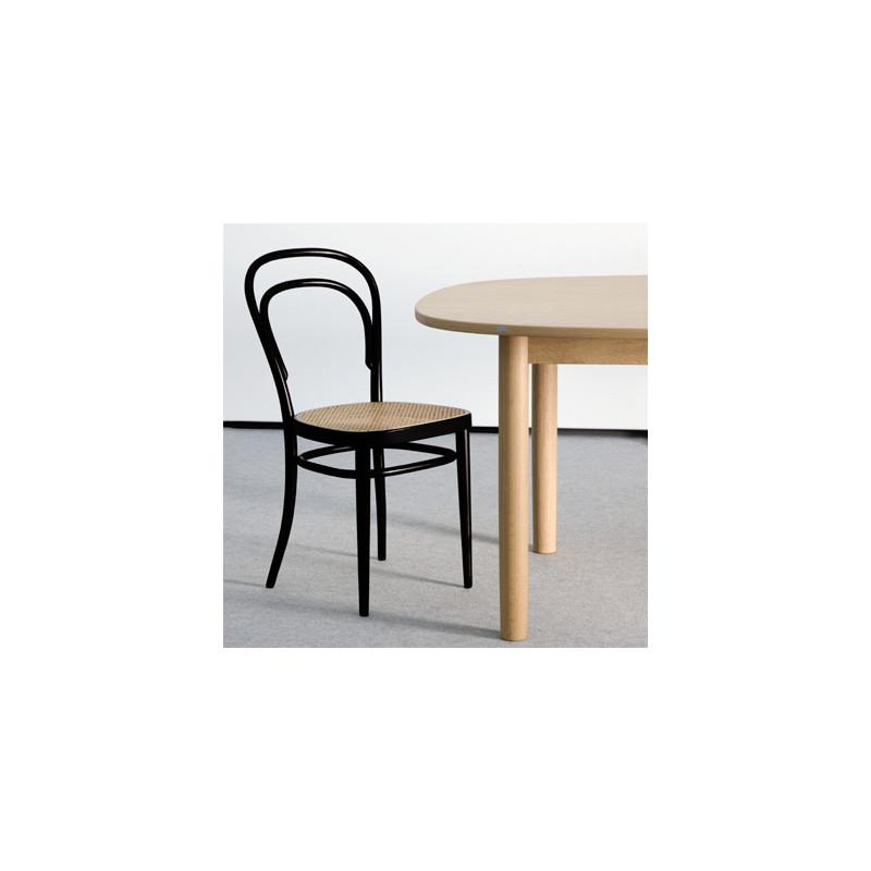 214 chaise bistrot thonet originale noir cerise sur la deco for Chaise originale
