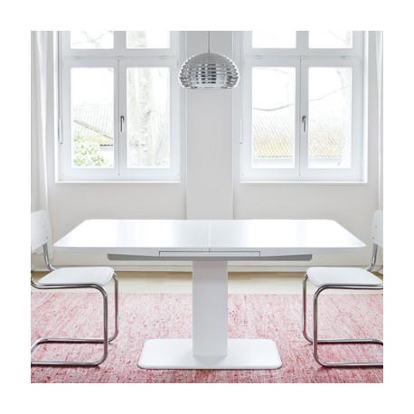 S1055 Table à rallonge, Thonet blanc laqué