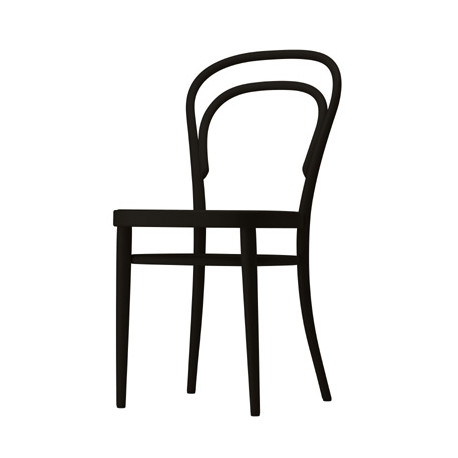 214M Chaise bistrot Thonet, assise bois noir