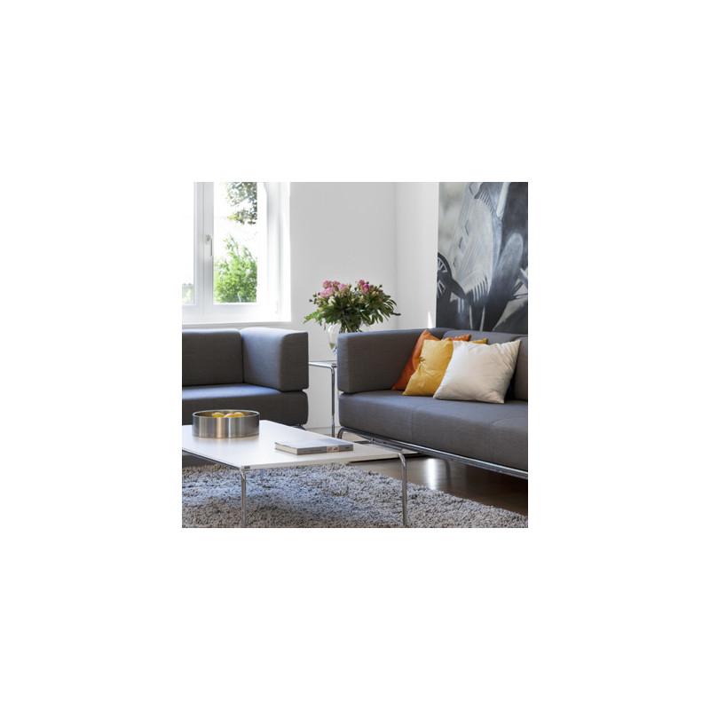 5003 canap 3 places amovible thonet gris cerise sur la. Black Bedroom Furniture Sets. Home Design Ideas