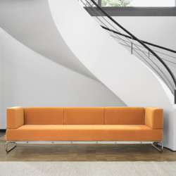 5003 Canapé 3 places amovible, Thonet orange