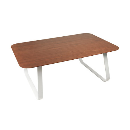 Table basse bois et métal Junglans, Leitmotiv noyer et blanc