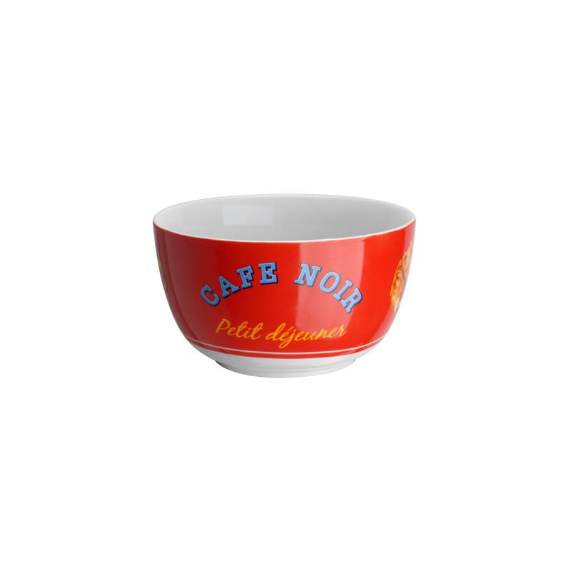 Coffret Bol Mug Assiette Croissant La Chaise Longue Rouge