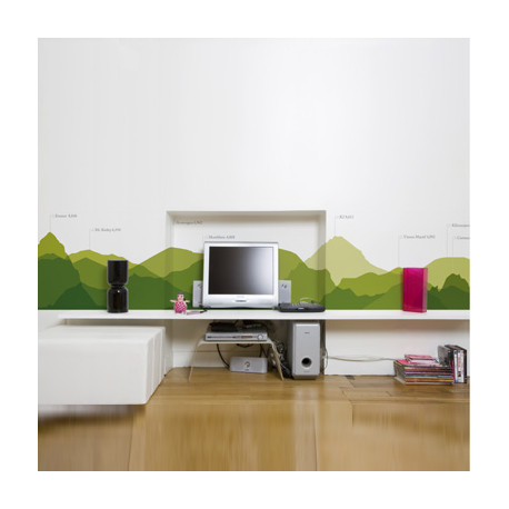 Lé de papier peint Worldwild skyline, Domestic vert