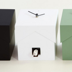 Cucubo, petite horloge coucou, Diamantini & Domeniconi blanc