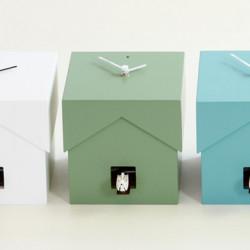 Cucubo, petite horloge coucou, Diamantini & Domeniconi vert