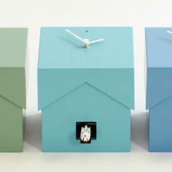 Cucubo, petite horloge coucou, Diamantini & Domeniconi bleu turquoise