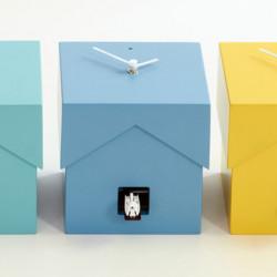 Cucubo, petite horloge coucou, Diamantini & Domeniconi bleu