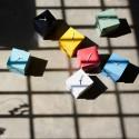 Cucubo, petite horloge coucou, Diamantini & Domeniconi jaune