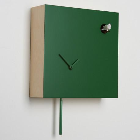 Horloge coucou Icona carrée, Diamantini & Domeniconi vert