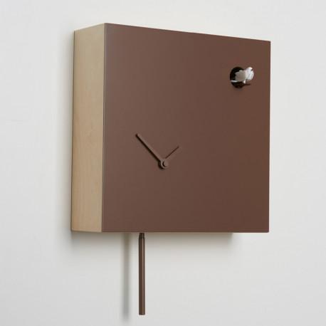 Horloge coucou Icona carrée, Diamantini & Domeniconi marron