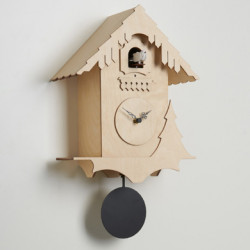 Horloge coucou Chalet, Diamantini & Domeniconi bois naturel, noir