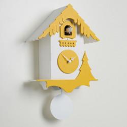 Horloge coucou Chalet, Diamantini & Domeniconi blanc, jaune