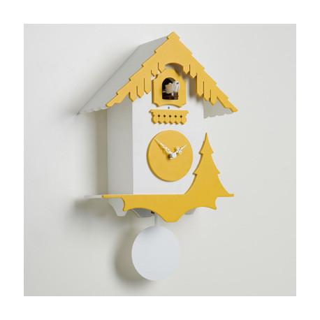 Horloge coucou Chalet, Diamantini & Domeniconi blanc, jaune ...