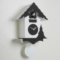 Horloge coucou Chalet, Diamantini & Domeniconi blanc, noir