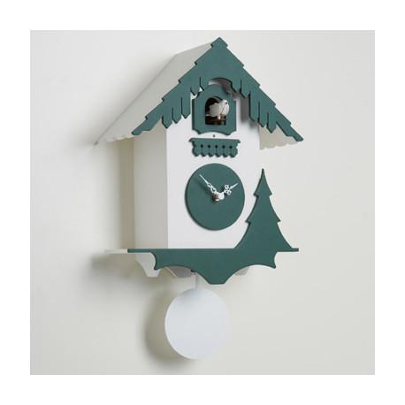 Horloge coucou Chalet, Diamantini & Domeniconi blanc, vert