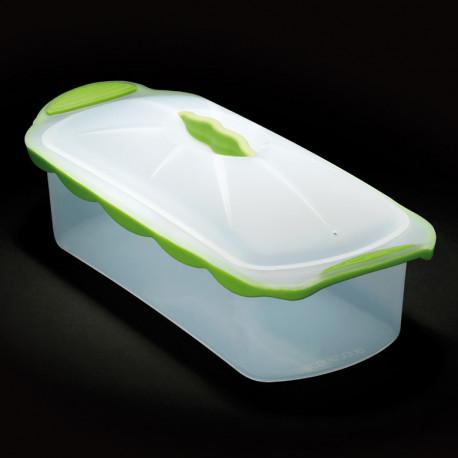 Moule à cake Silicone Zone, terrine blanc, vert