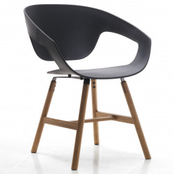 Chaise design Vad Wood, Casamania noir