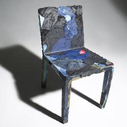 Chaise en jeans recyclés Rememberme, Casamania bleu
