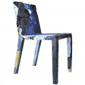 Chaise en jeans recyclés Rememberme, Casamania bleu