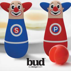 Set de sel et poivre Silly, Bud bleu et rouge