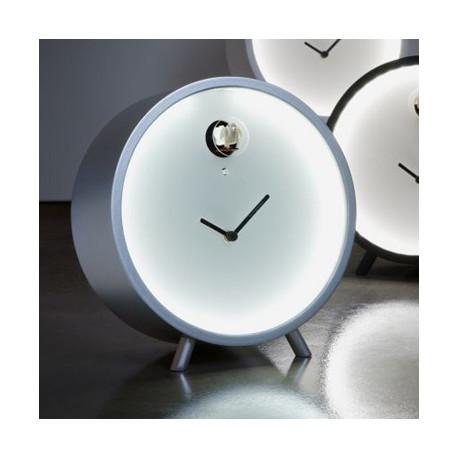 Horloge lumineuse à poser Plex, Diamantini & Domeniconi argenté