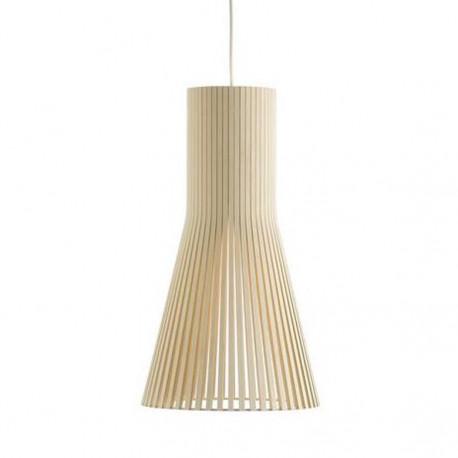Suspension design Secto 4200, Secto Design, bois naturel, hauteur 60 cm