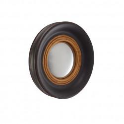 Miroir rond Convexe, Athezza noir et brun