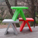 Table d'appoint Toy, Slide Design rouge
